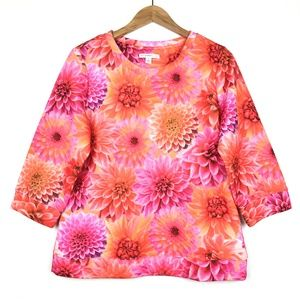 Isaac Mizrahi Live! Floral Quilted Sweatshirt